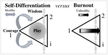 Self-differentiation versus burnout